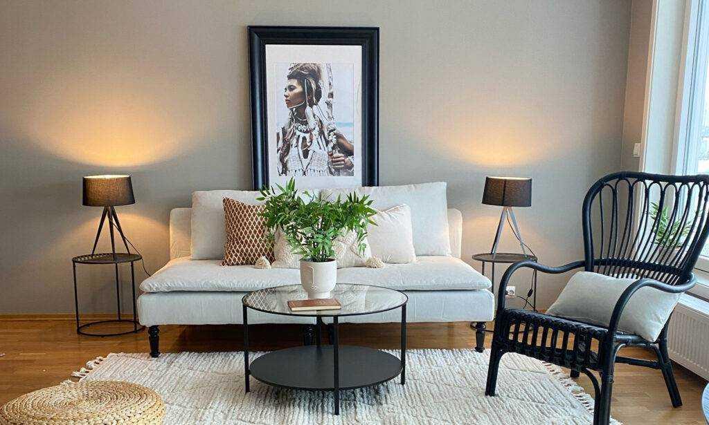 Boligstyling - Standard boligstyling av stue