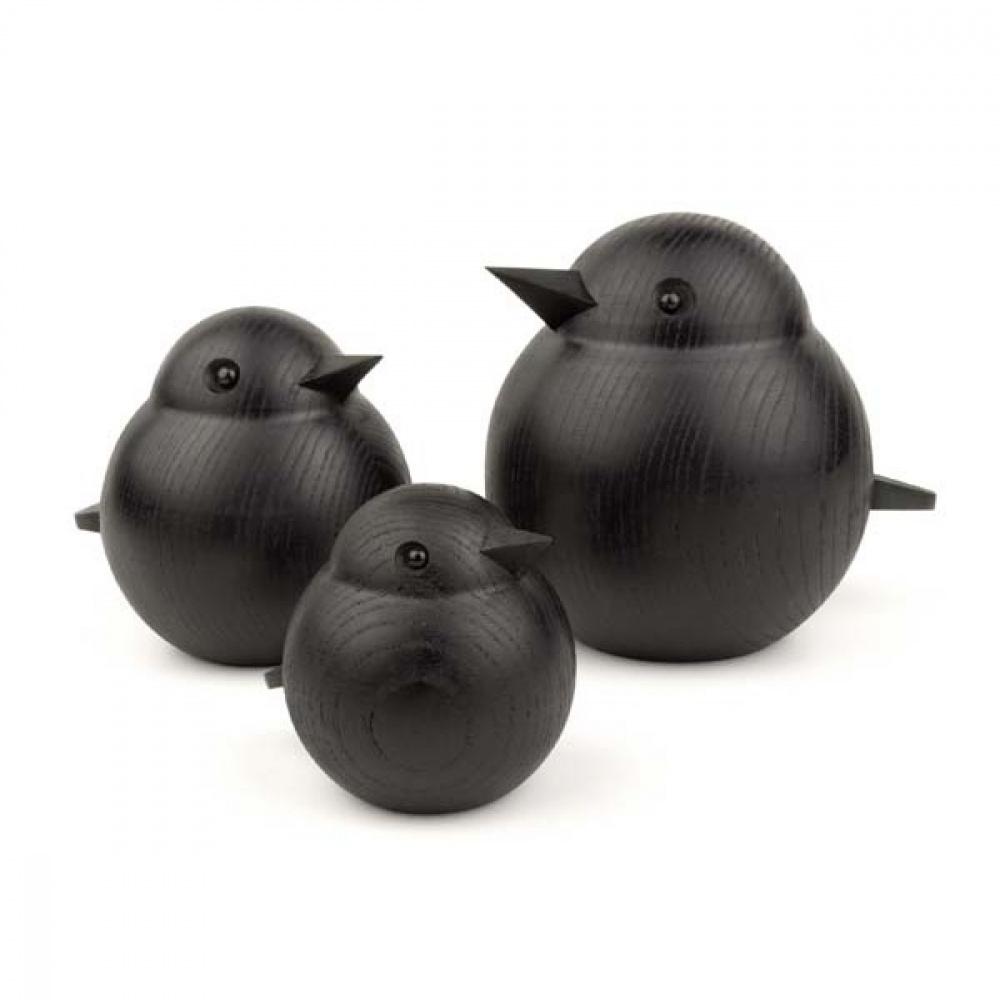 Spurvefamile fra Novoform i svart