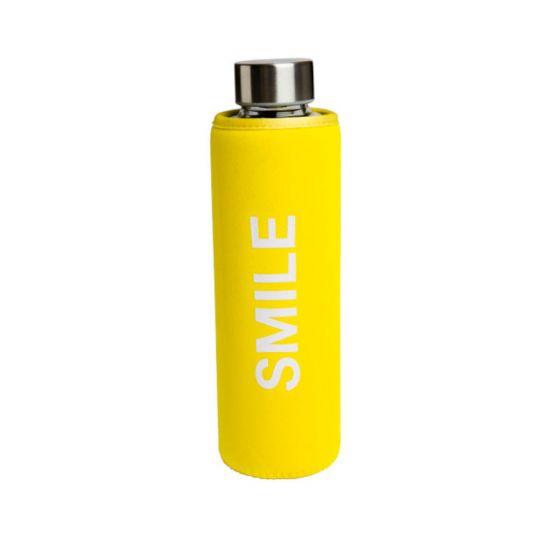 Knallgul smilende SMILE flaske.
